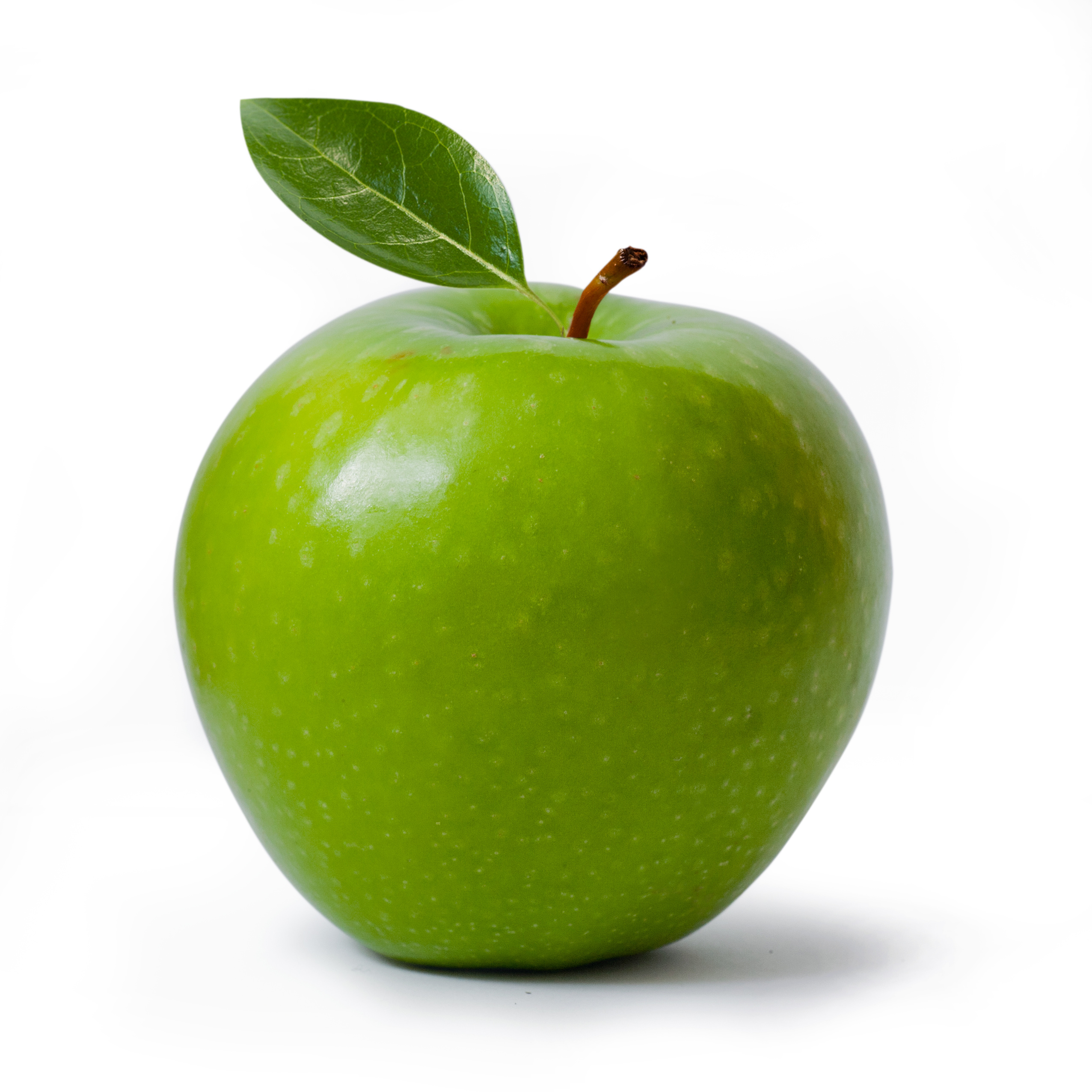 green Granny Smith apple isolated on white, clipping path included